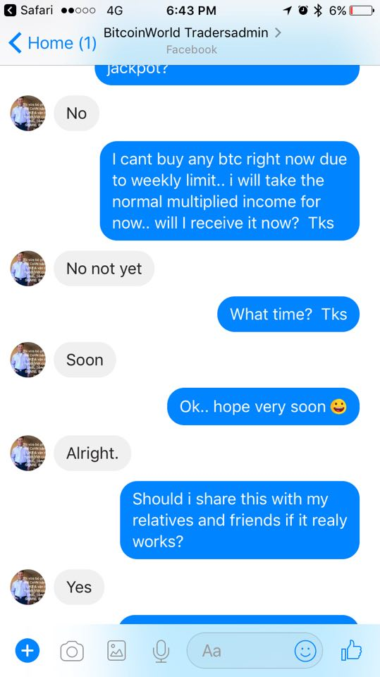 Bitcoin World Trader scam