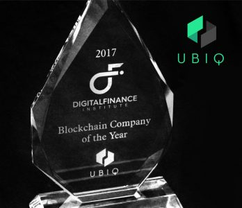 Ubiq blockchain company of the year Canada 2017